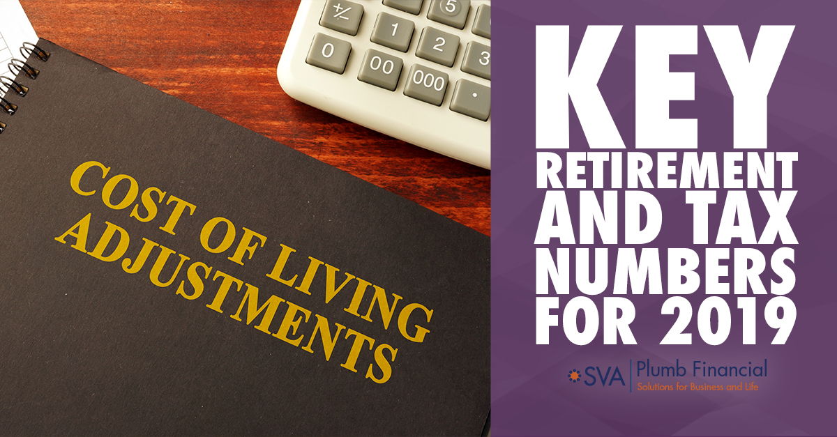 Key Retirement and Tax Numbers for 2019