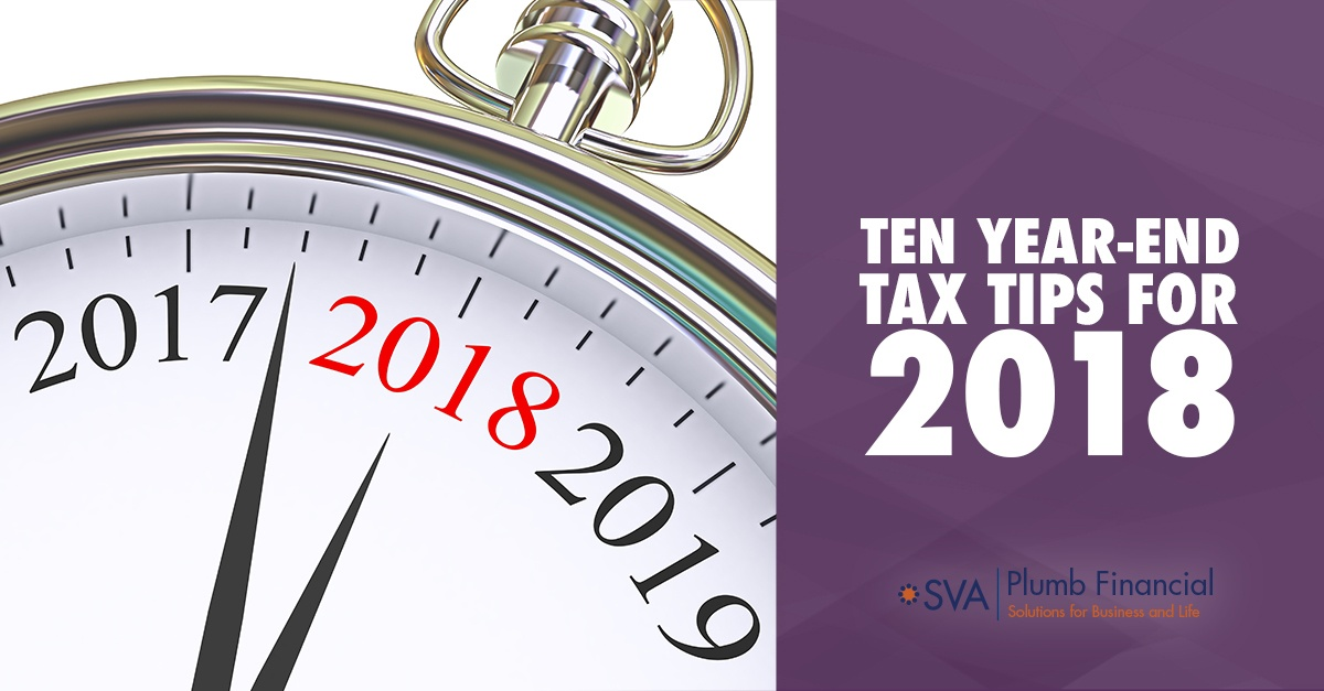 Ten Year-End Tax Tips for 2018